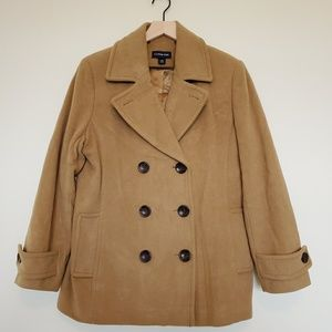 Lands End wool cashmere pea coat size 12 petite